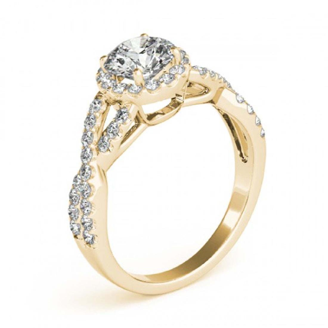 1.54 CTW Certified VS/SI Diamond Solitaire Halo Ring - 3