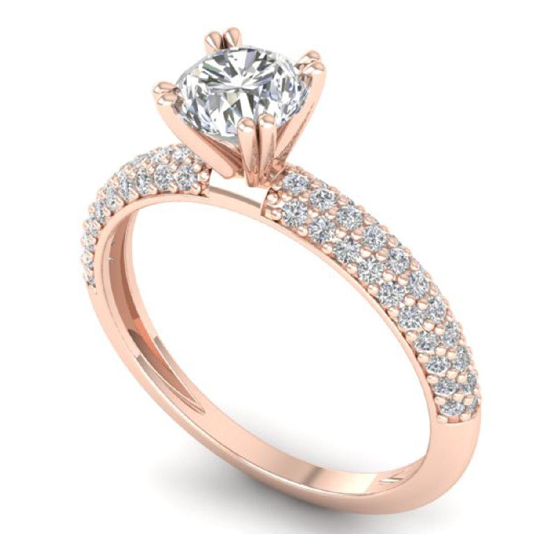 1.4 CTW Certified VS/SI Diamond Solitaire Art Deco - 2
