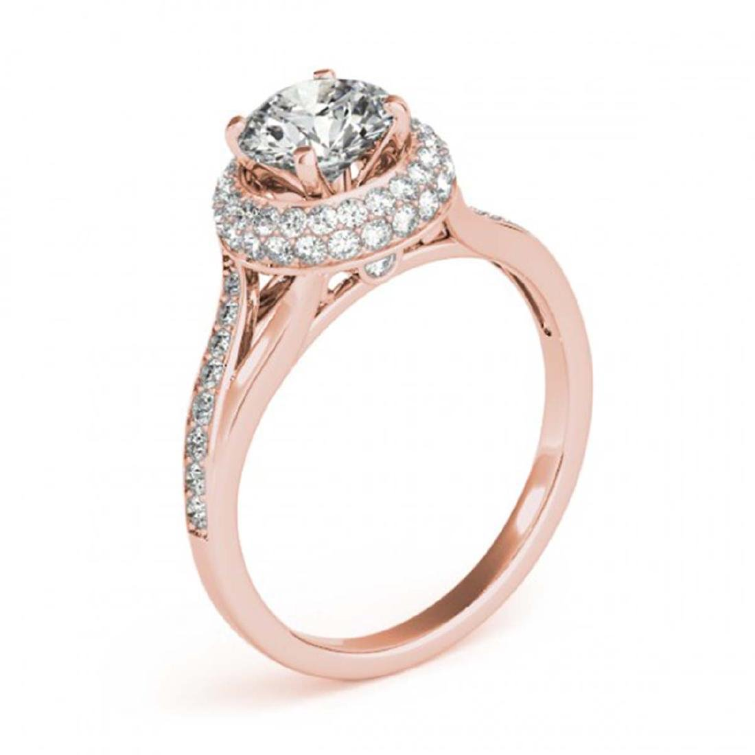 1.85 CTW Certified VS/SI Diamond Solitaire Halo Ring - 3