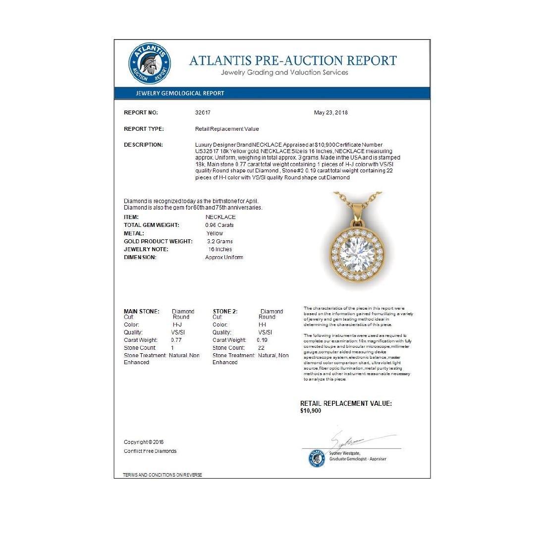 0.96 CTW Certified VS/SI Diamond Art Deco Micro Halo - 4