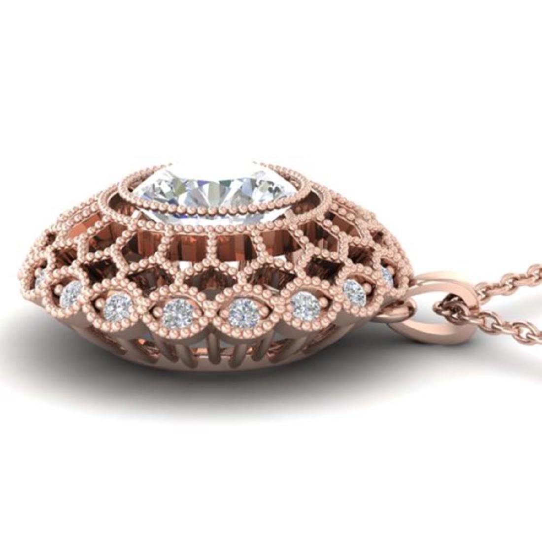 1.25 CTW VS/SI Diamond Art Deco Necklace 18K Gold - - 3