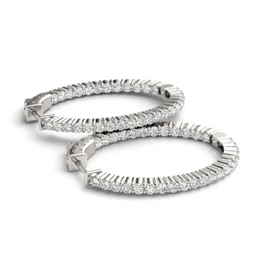 5 CTW Diamond VS/SI 32 Mm Hoop Earrings 14K White Gold