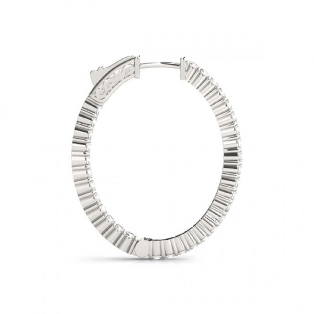 5 CTW Diamond VS/SI 32 Mm Hoop Earrings 14K White Gold - 3