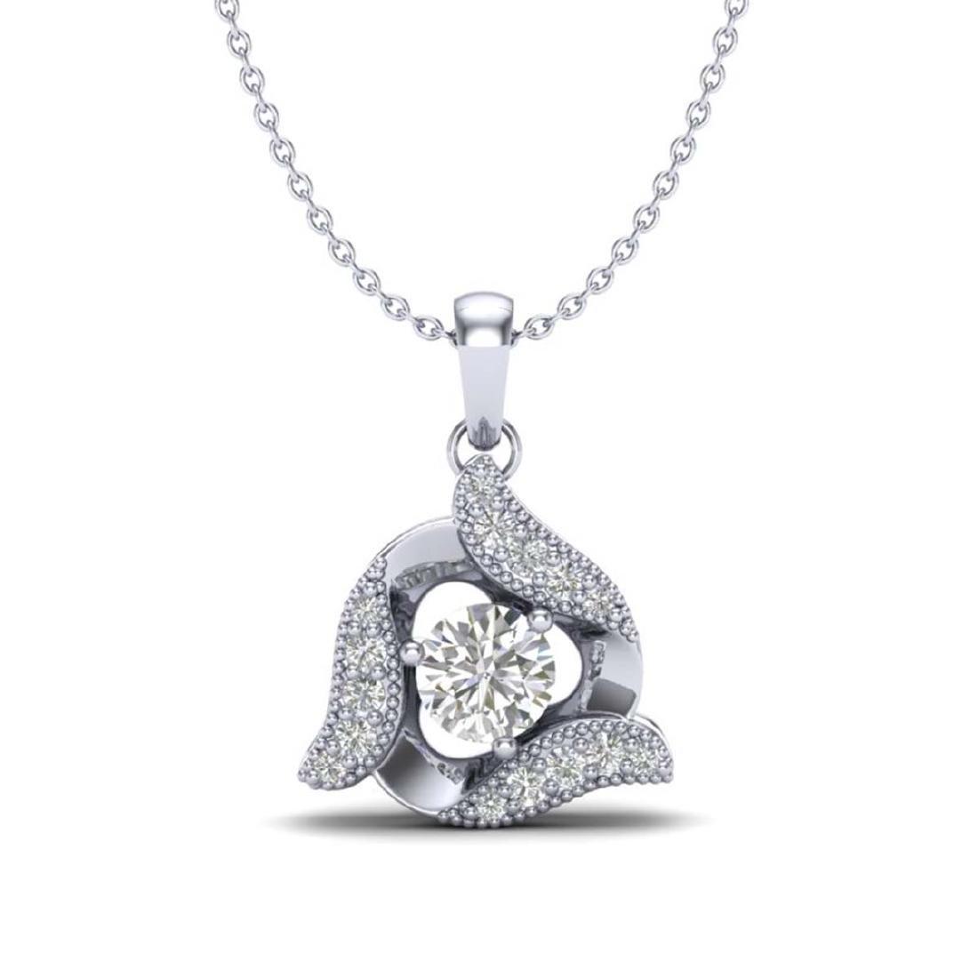 0.38 CTW VS/SI Diamond Halo Necklace 18K Gold -