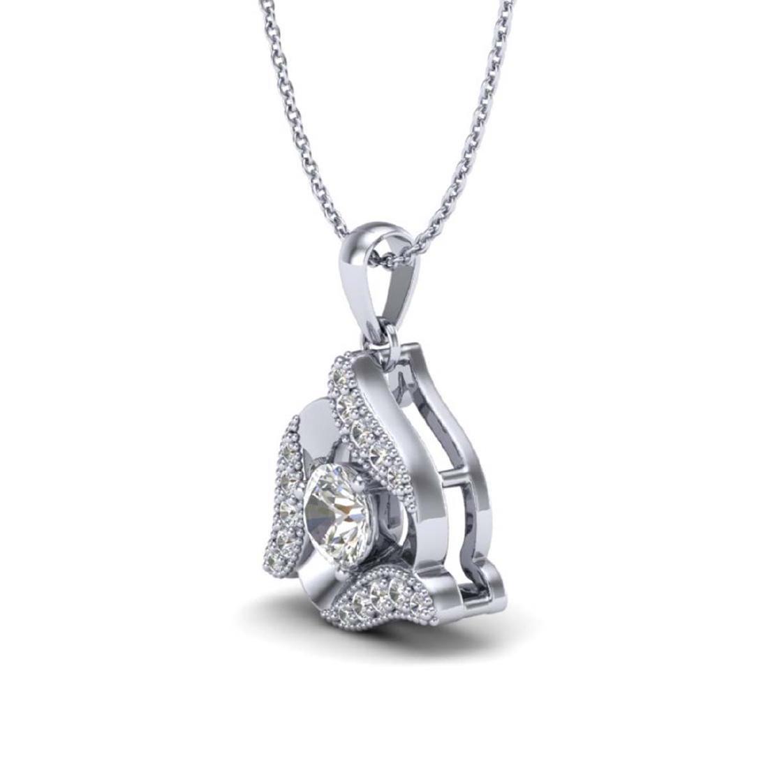 0.38 CTW VS/SI Diamond Halo Necklace 18K Gold - - 2