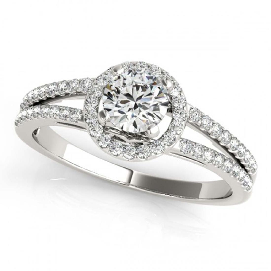 0.75 CTW VS/SI Diamond Solitaire Halo Ring 14K White