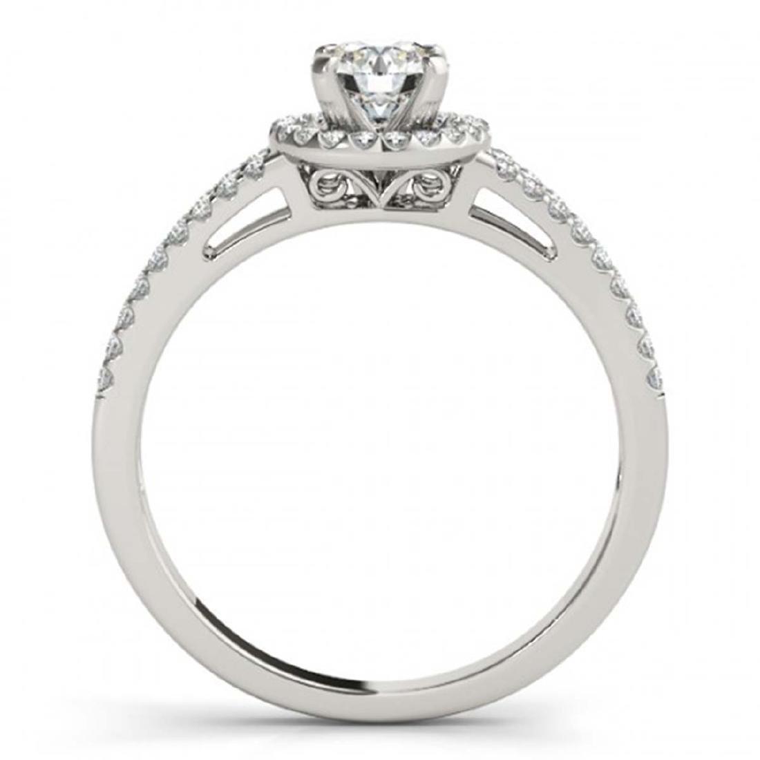 0.75 CTW VS/SI Diamond Solitaire Halo Ring 14K White - 2