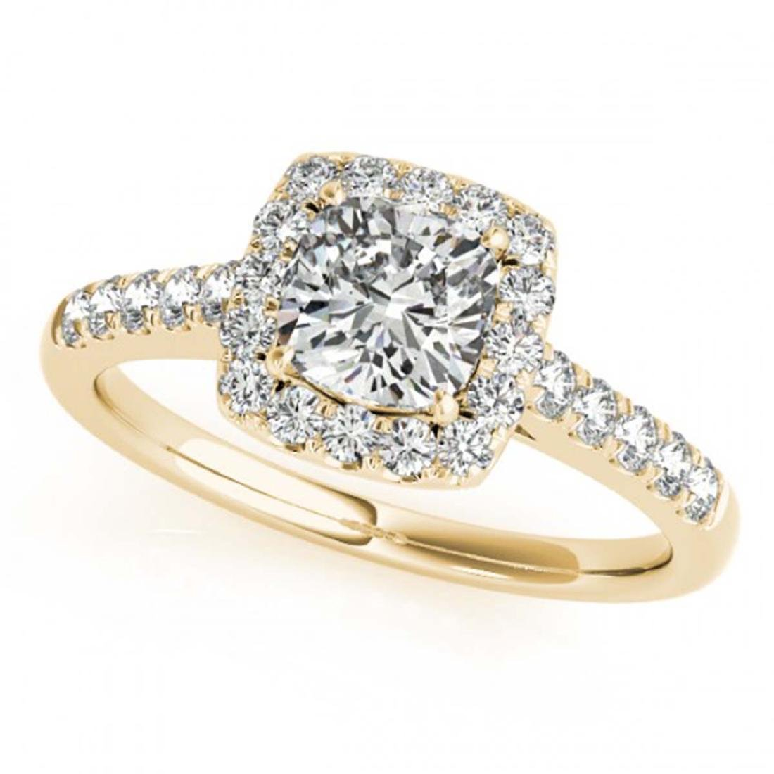 1.16 CTW VS/SI Cushion Diamond Solitaire Halo Ring 14K