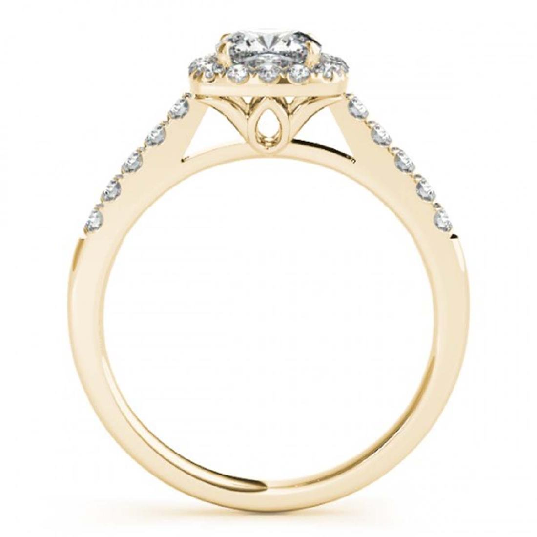 1.16 CTW VS/SI Cushion Diamond Solitaire Halo Ring 14K - 2