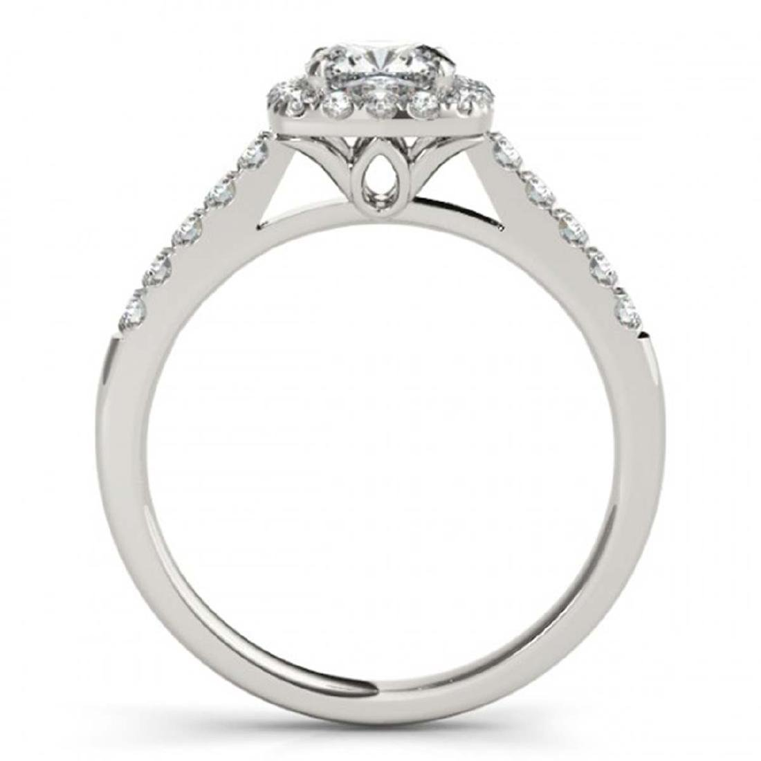 1.45 CTW VS/SI Cushion Diamond Solitaire Halo Ring 14K - 2