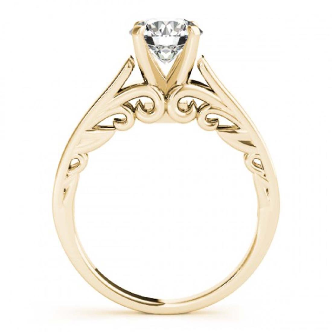 0.75 CTW VS/SI Diamond Solitaire Ring 14K Yellow Gold - - 2