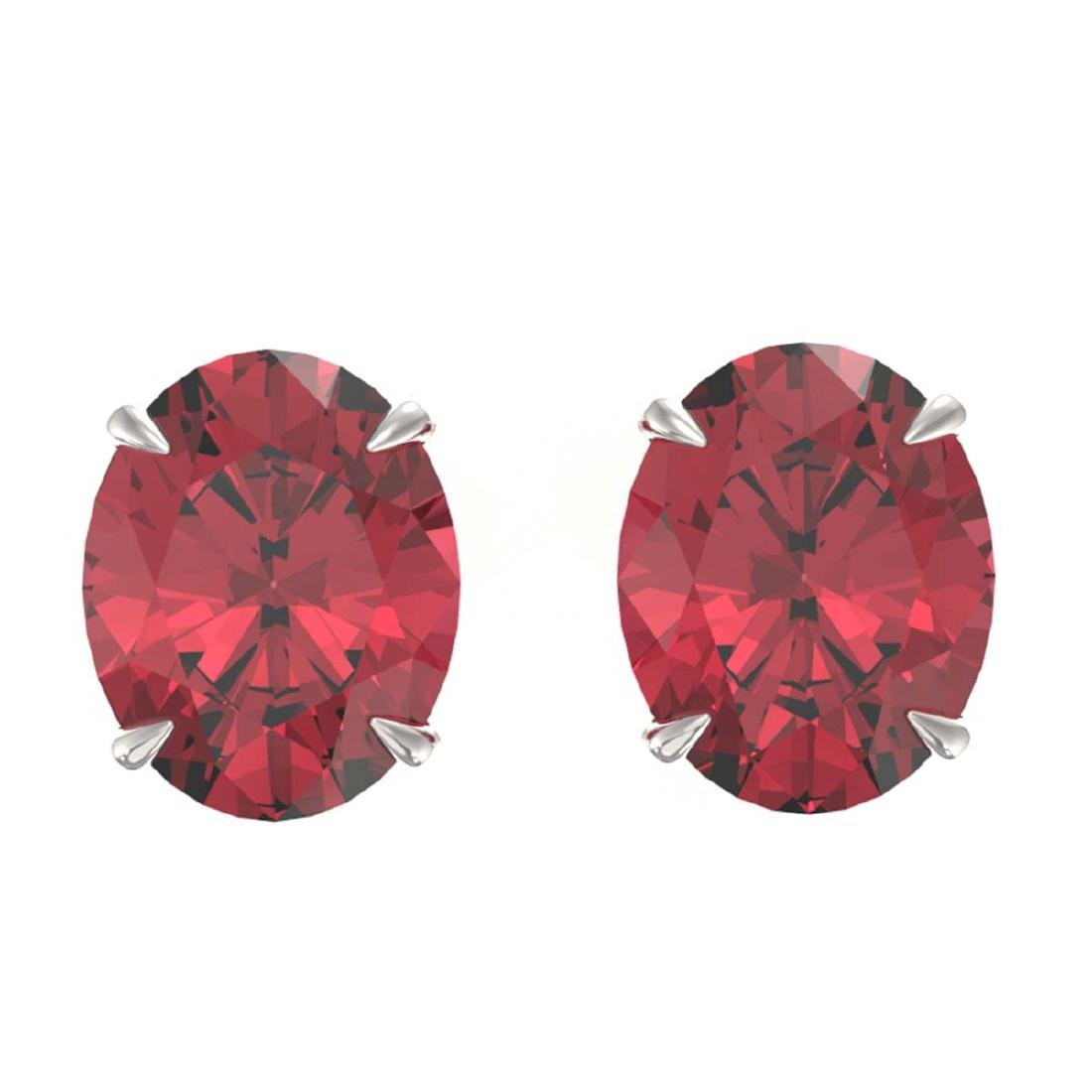 5.50 CTW Pink Tourmaline Solitaire Stud Earrings 18K