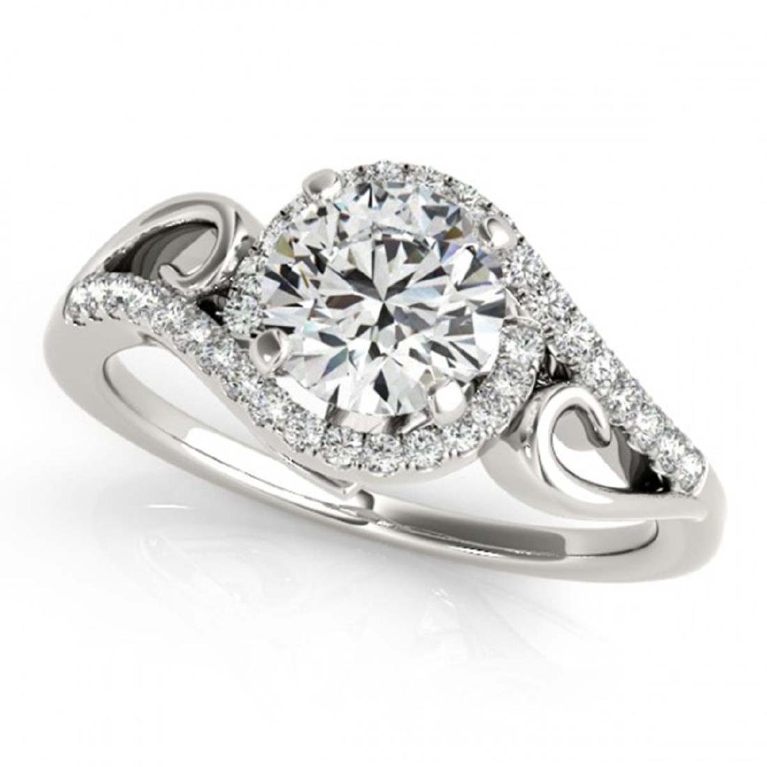 1.25 ctw VS/SI Diamond Solitaire Halo Ring 14K White