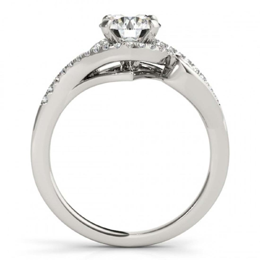 1.25 ctw VS/SI Diamond Solitaire Halo Ring 14K White - 2