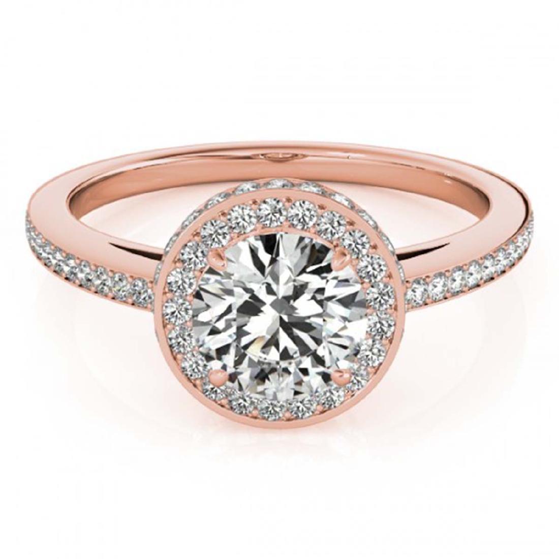 1.25 ctw VS/SI Diamond Solitaire Halo Ring 14K Rose