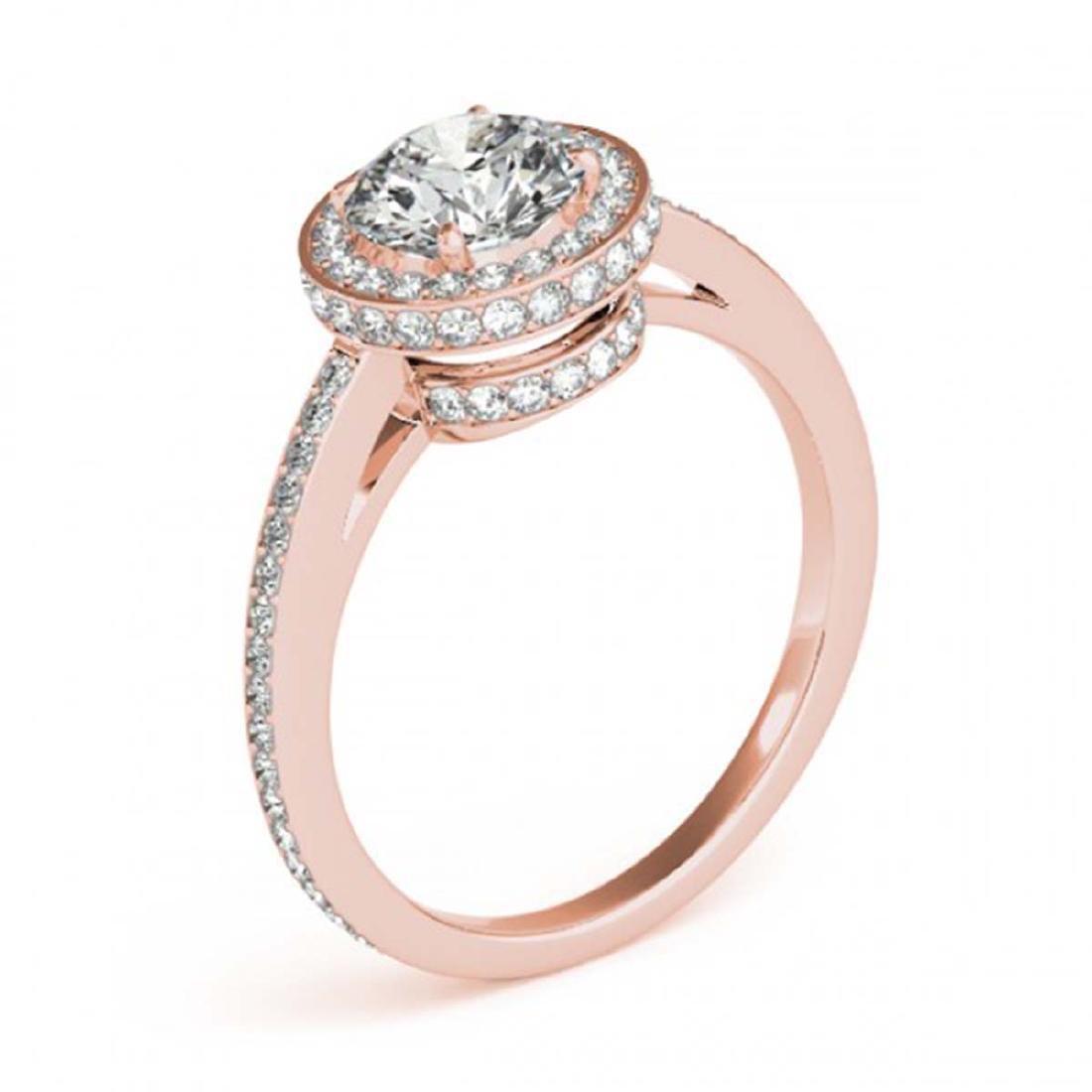 1.25 ctw VS/SI Diamond Solitaire Halo Ring 14K Rose - 3