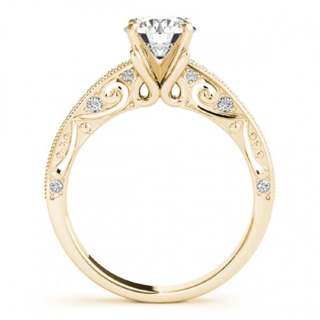 1.25 ctw VS/SI Diamond Solitaire Ring 14K Yellow Gold - - 2