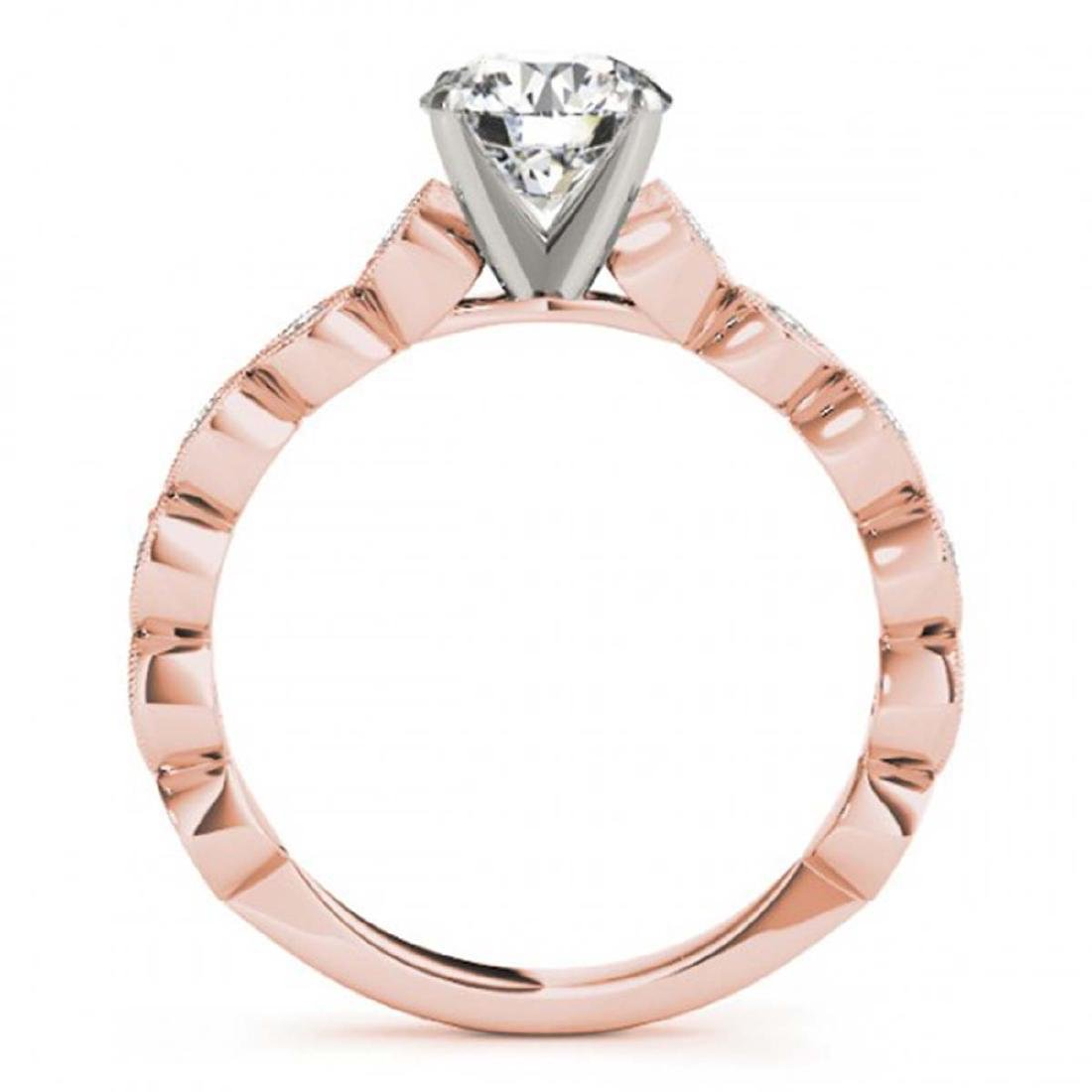 1.25 ctw VS/SI Diamond Solitaire Ring 14K Rose Gold - - 2