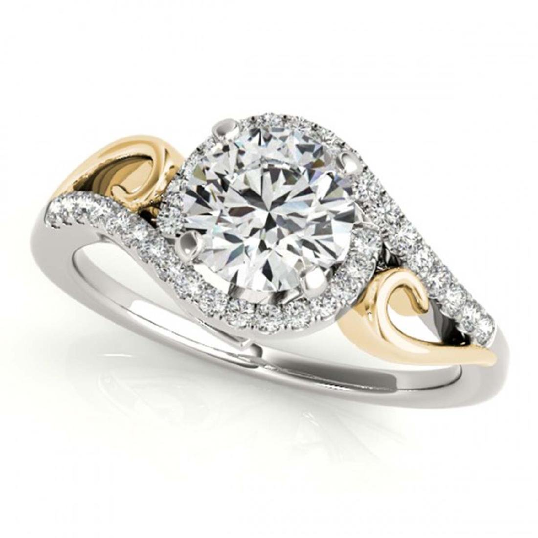 1.25 ctw VS/SI Diamond Solitaire Halo Ring 14K White &