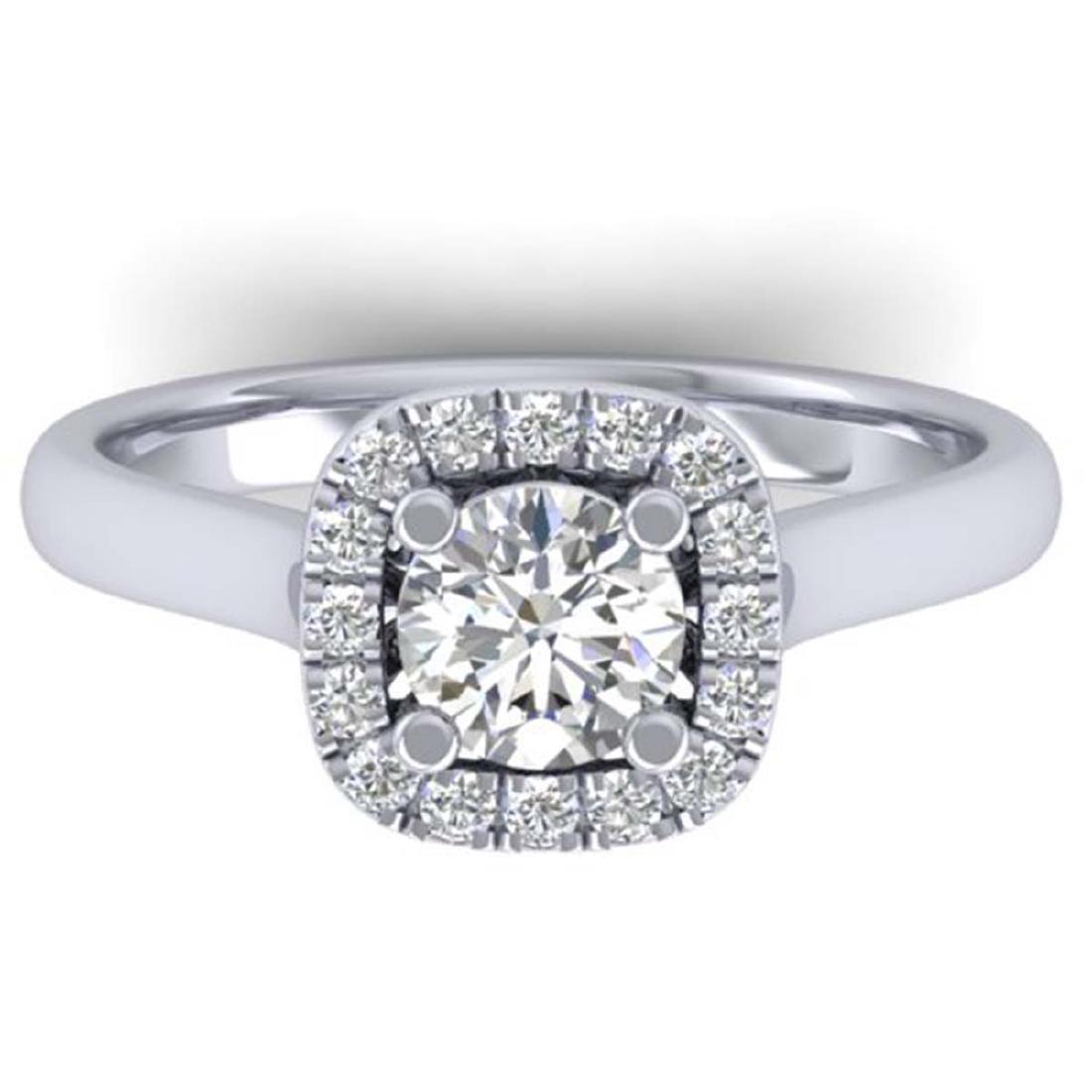 1.01 ctw VS/SI Diamond Solitaire Halo Ring 18K White