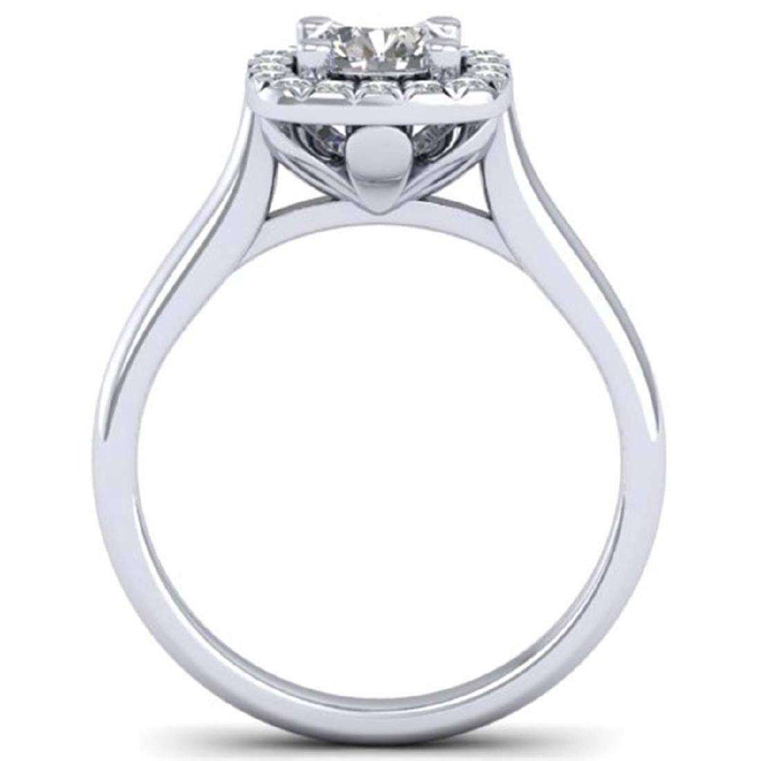 1.01 ctw VS/SI Diamond Solitaire Halo Ring 18K White - 3