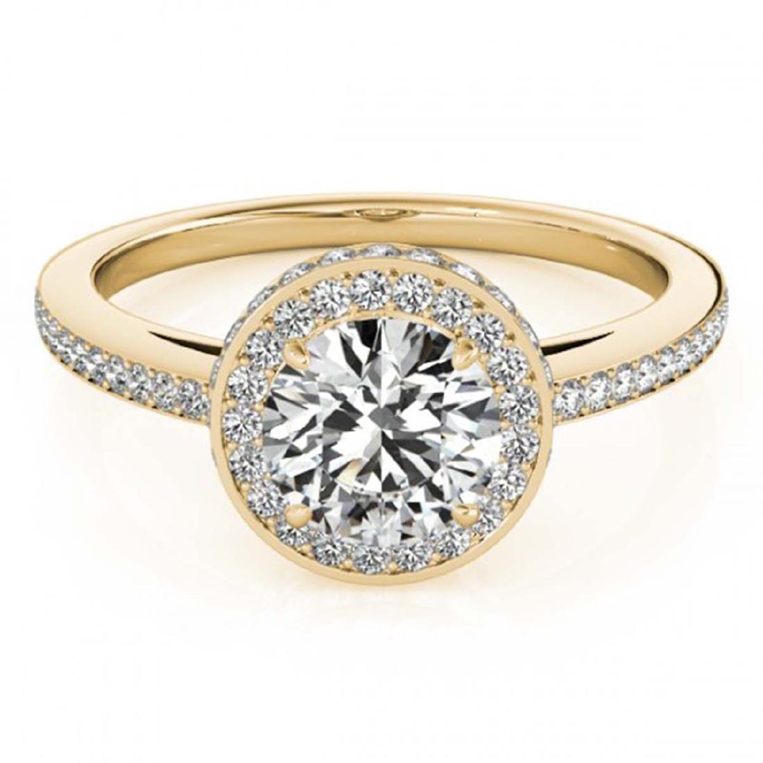 1.25 ctw VS/SI Diamond Solitaire Halo Ring 14K Yellow