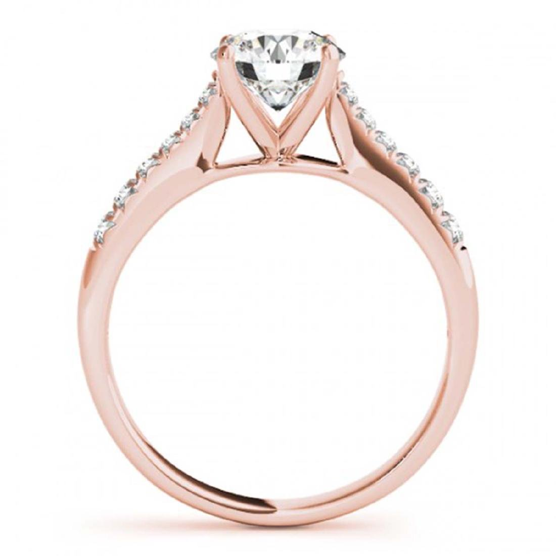 1.25 ctw VS/SI Diamond Solitaire Ring 14K Rose Gold - - 2