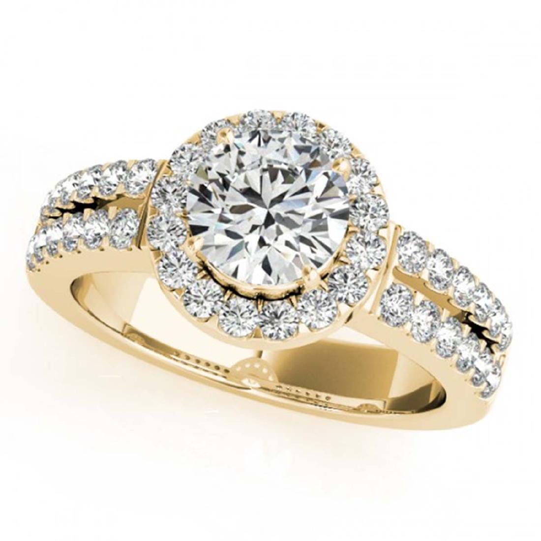 1.25 ctw VS/SI Diamond Solitaire Halo Ring 14K Yellow