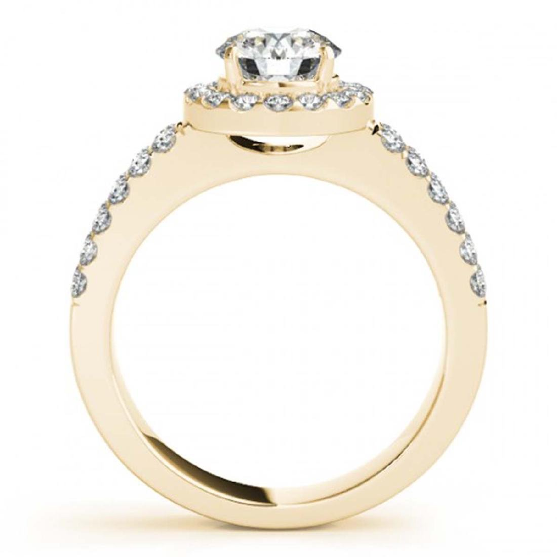 1.25 ctw VS/SI Diamond Solitaire Halo Ring 14K Yellow - 2