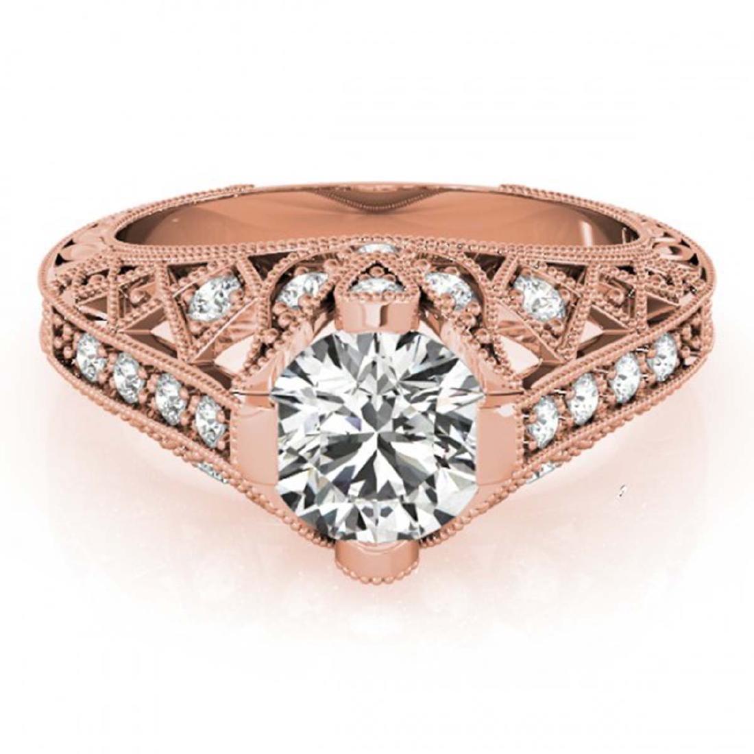 1.25 ctw VS/SI Diamond Ring 14K Rose Gold - REF-271R3K
