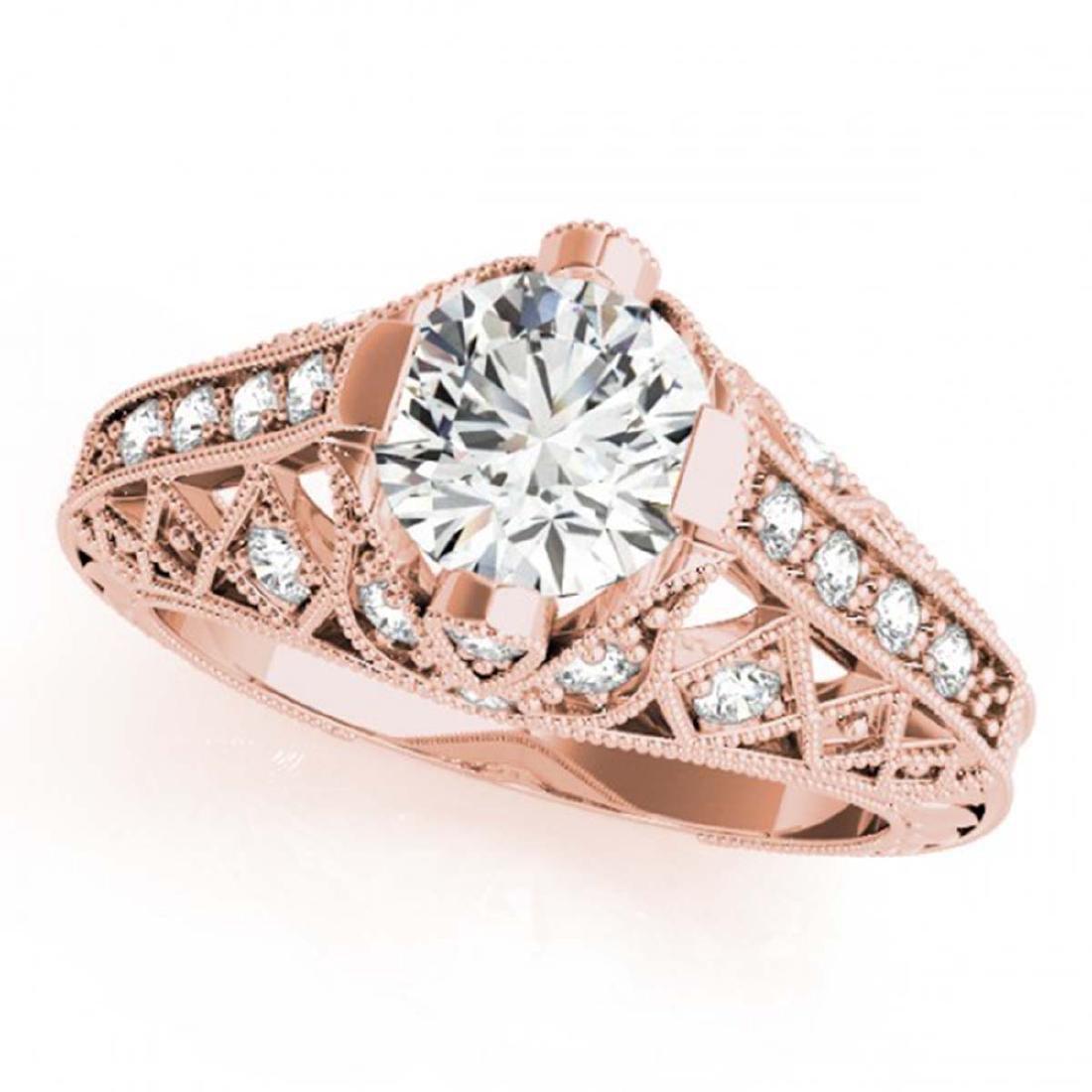 1.25 ctw VS/SI Diamond Ring 14K Rose Gold - REF-271R3K - 2