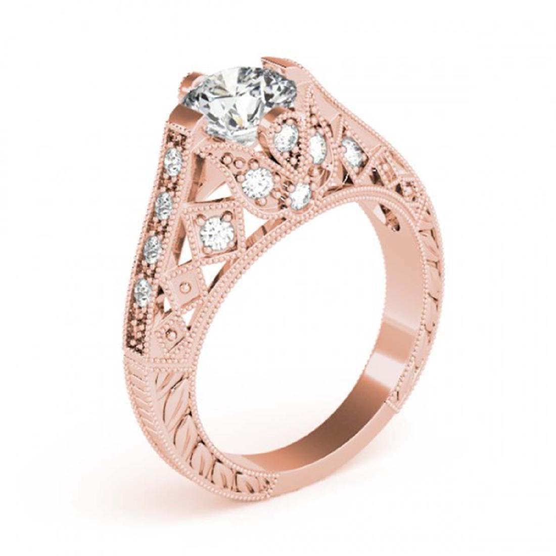 1.25 ctw VS/SI Diamond Ring 14K Rose Gold - REF-271R3K - 3