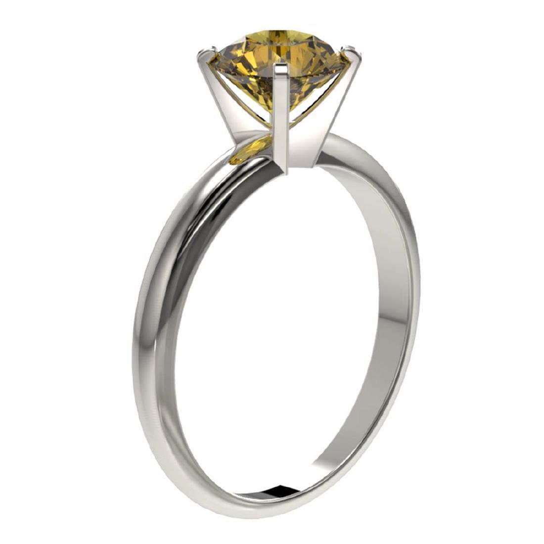 1.50 ctw Intense Yellow Diamond Solitaire Ring 10K - 3