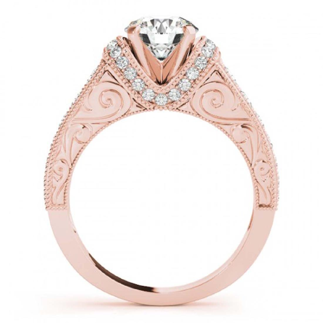 1.75 ctw VS/SI Diamond Ring 14K Rose Gold - REF-374W6H - 2