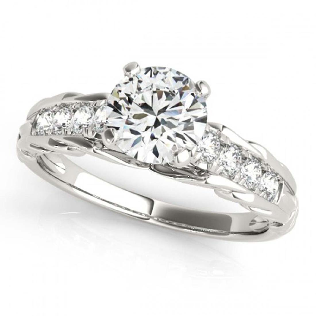 0.95 ctw VS/SI Diamond Solitaire Ring 14K White Gold -