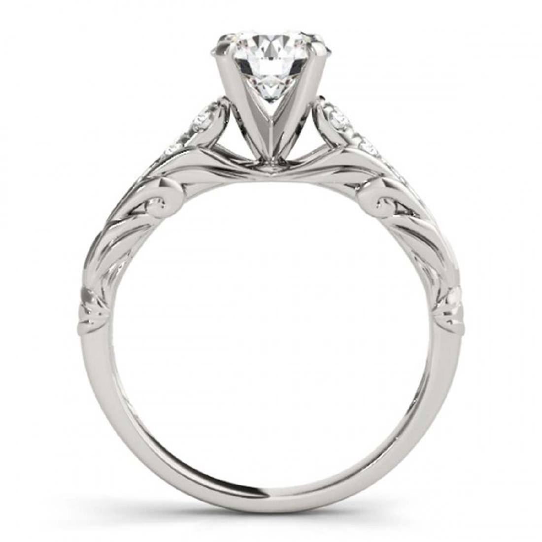 0.95 ctw VS/SI Diamond Solitaire Ring 14K White Gold - - 2