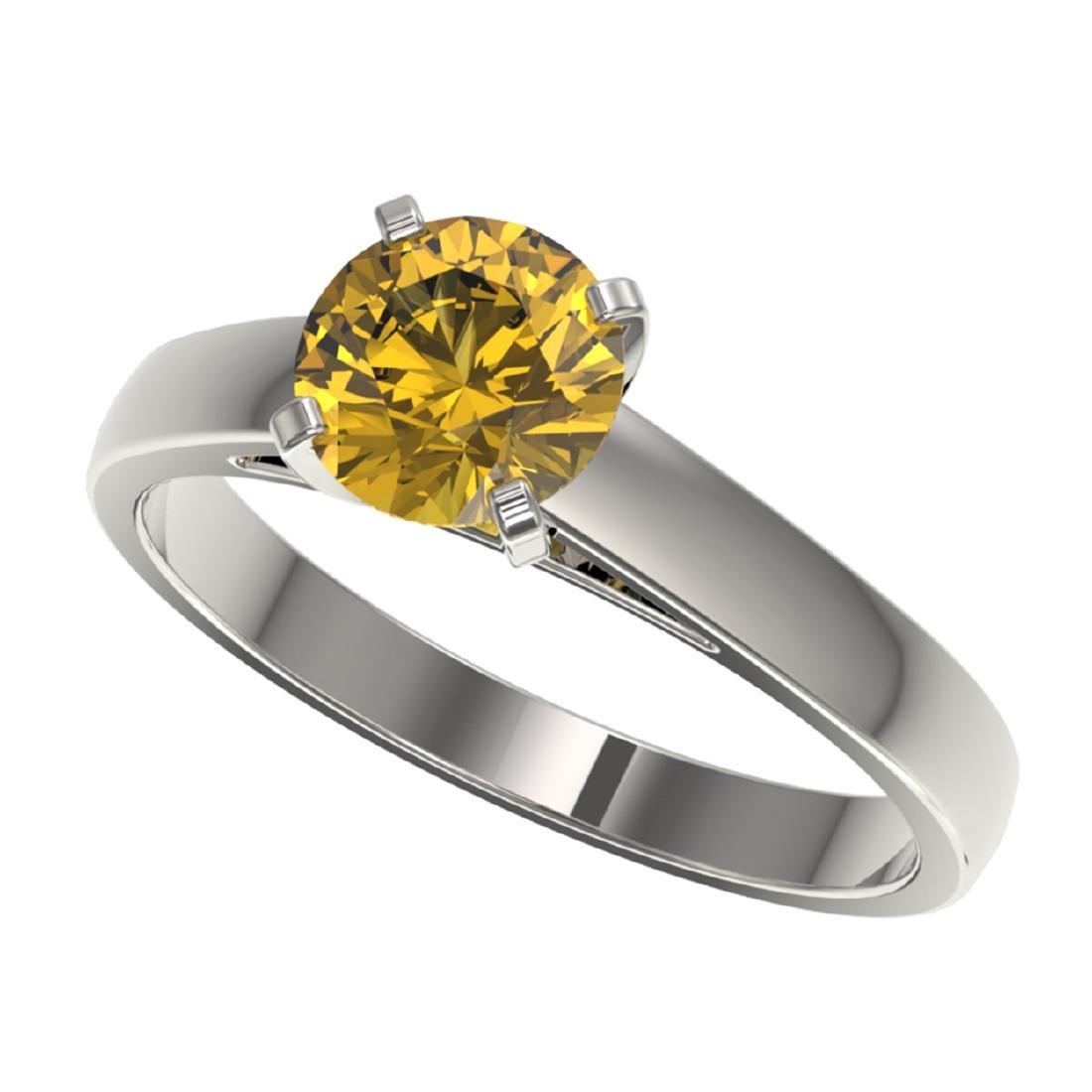 1.29 ctw Intense Yellow Diamond Solitaire Ring 10K