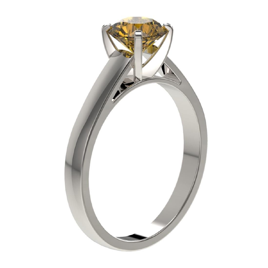 1.29 ctw Intense Yellow Diamond Solitaire Ring 10K - 3