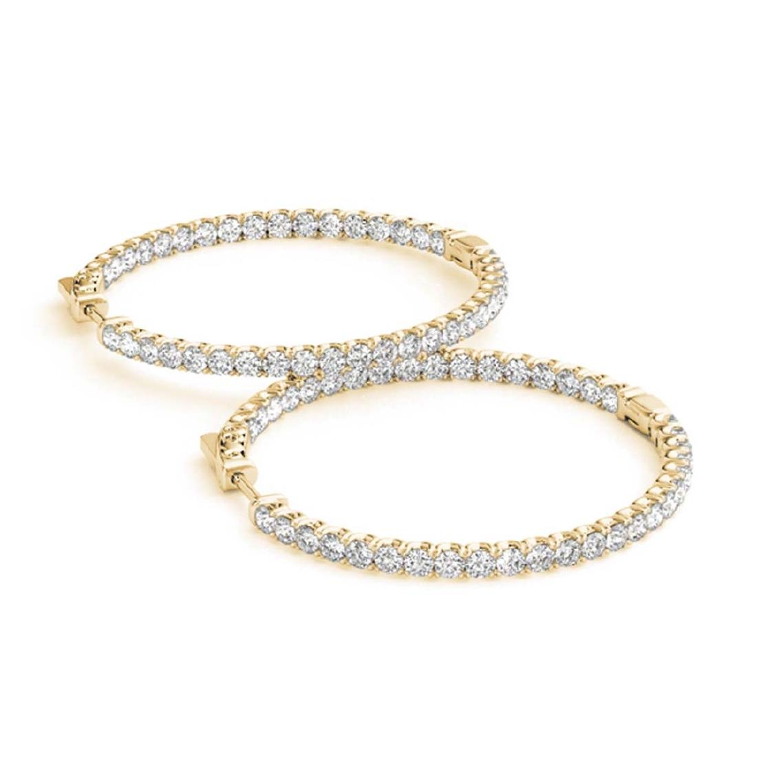 7 ctw Diamond VS/SI 56 mm Hoop Earrings 14K Yellow Gold