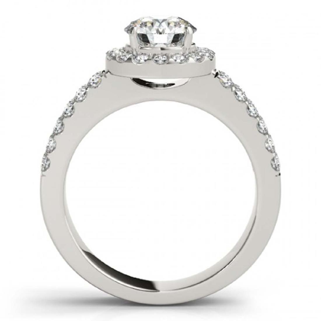 0.85 ctw VS/SI Diamond Halo Ring 14K White Gold - - 2