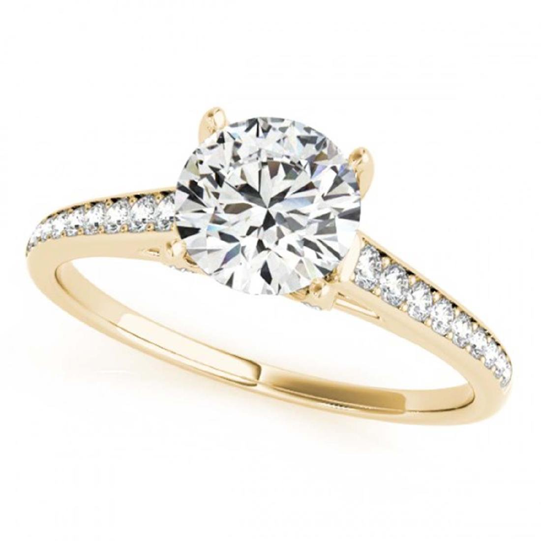 1.20 ctw VS/SI Diamond Solitaire Ring 14K Yellow Gold -