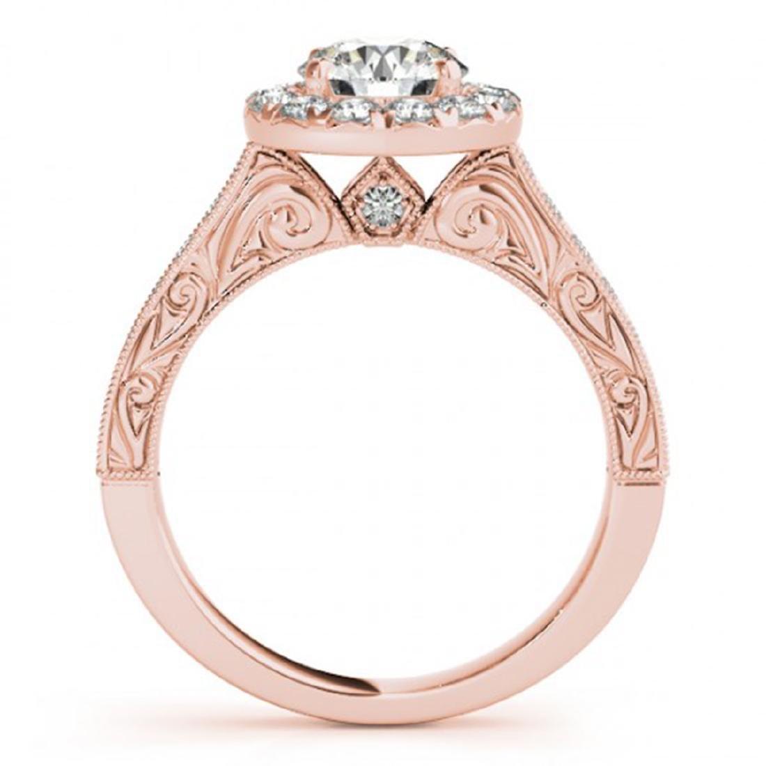 1.40 ctw VS/SI Diamond Halo Ring 14K Rose Gold - - 2