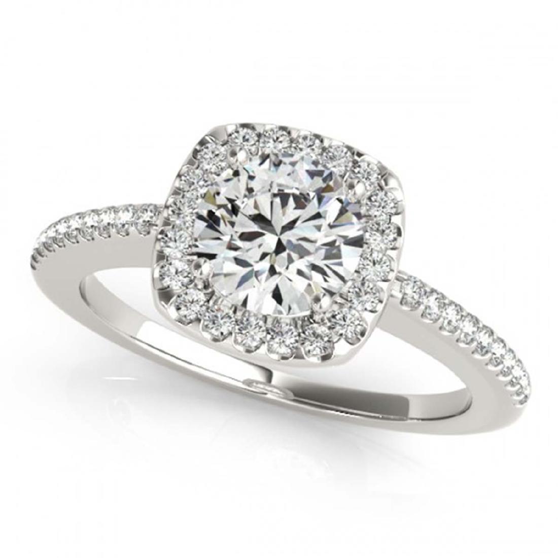 0.75 ctw VS/SI Diamond Halo Ring 14K White Gold -