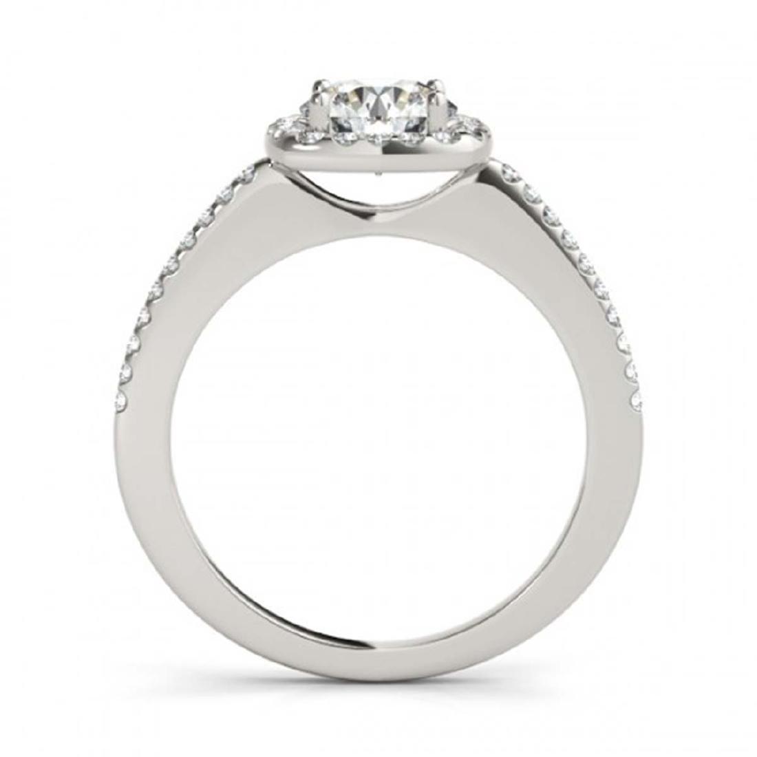 0.75 ctw VS/SI Diamond Halo Ring 14K White Gold - - 2