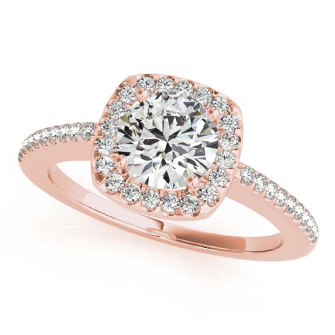 1.01 ctw VS/SI Diamond Solitaire Halo Ring 14K Rose