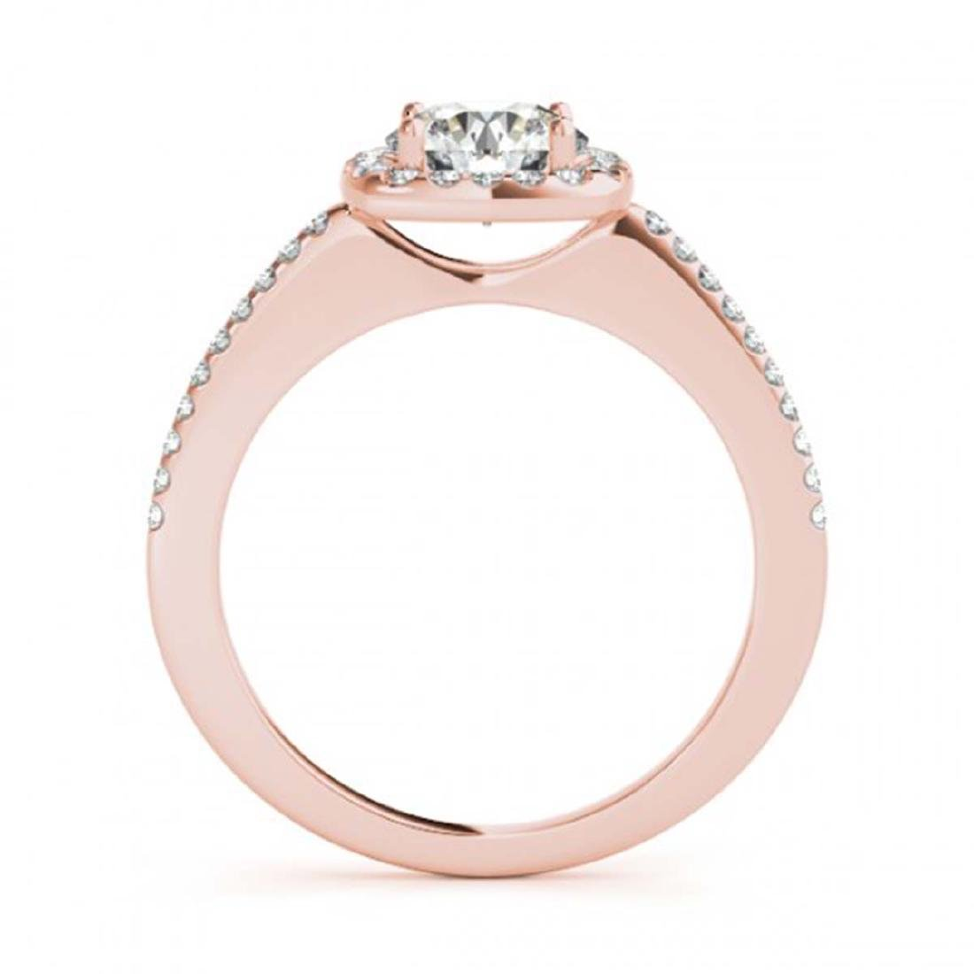 1.01 ctw VS/SI Diamond Solitaire Halo Ring 14K Rose - 2