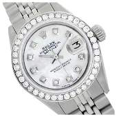 Rolex Mens Stainless Steel QuickSet Diamond Dial