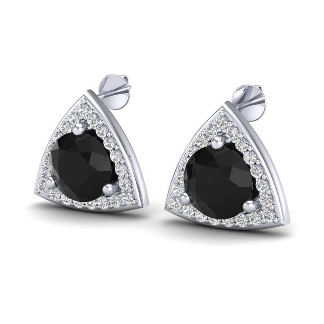 3.50 ctw Halo VS/SI Diamond Stud Earrings 18K White
