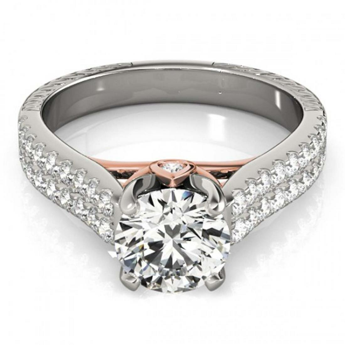 2.11 ctw VS/SI Diamond Ring 14K White & Rose Gold -