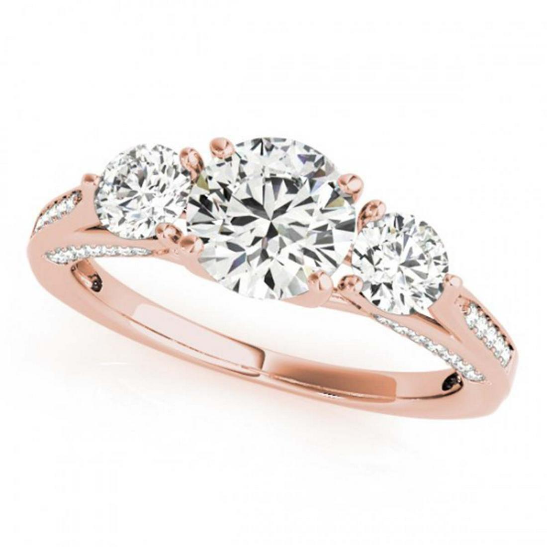 1.75 ctw VS/SI Diamond 3 Stone Ring 14K Rose Gold -